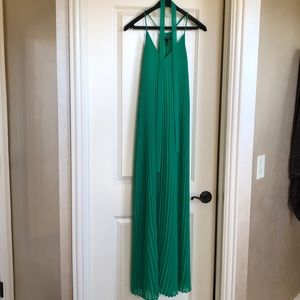 Green Victoria's Secret Maxi dress with tie.